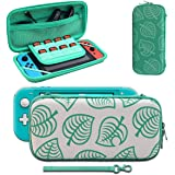 Carrying Case Compatible with Nintendo Switch, [for Animal New Horizons Edition] New Leaf Crossing Design, Portable Travel Ca