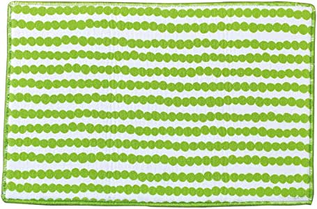 SPICE OF LIFE(スパイス) 水切りマット ドライングマット Vari ドットグリーン 45×30cm マイクロファイバー リバーシブル ループ付き JLLY7010GR