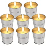 Allwindeals Citronella Candles, Natural Soy Wax Scented Candles with Citronella Essential Oil 2 Oz Unit Portable Bucket Candl