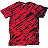 Faded Tiger Stripe All-Over Design Unisex Adult Tie Dye T-Shirt Tee