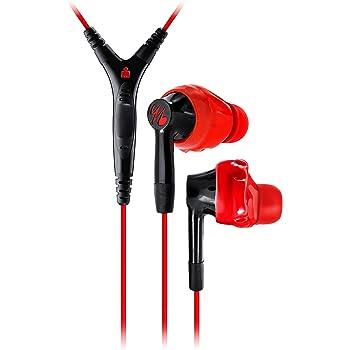 yurbuds INSPIRE 400 red スポーツイヤホン インスパイア400 マイク付き3ボタンリモコン搭載 レッドブラック YBIMINSP04RNB 【国内正規品】