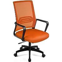 ComHoma 椅子 オフィスチェア メッシュ デスクチェア おしゃれ 通気性抜群 腰を使え 昇降機能付き 360度回転…