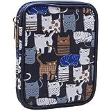 Teamoy お手頃かぎ針収納ケース 二層式 かぎ針セット・かぎ針編みのアクセサリー・クラフトツール・筆記用具 保管 持ち運び 可愛い プレゼント(針が含まない)猫ブルー