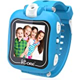 iCore Smart Watch for Kids, Game Camera Smartwatch, Digital Touch Screen Kid Watches with Alarm Clock Stopwatch, Toys Video G