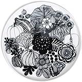 マリメッコ(marimekko) シイルトラプータルハ プレート 20cm ブラック (植物) SIIRTOLAPUUTARHA 68422-190 [並行輸入品]