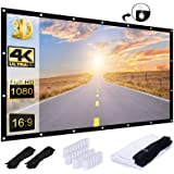 Pinch Electrons Projection Screen,Tasco Portable Movie Screen 120 Inch Anti-Crease Screen Thickened 16:9 HD Double Sided Proj