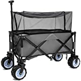PA Outdoor Utility Foldable Wagon Portable Luggage and Shopping Carrier Cart
