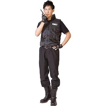 スワット SWAT コスプレ 男女共用 4點セット (MENコス)