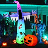 HBlife 12 FT Halloween Decoration Inflatable Ghost, Blow Up Animated Ghost with Build-in LEDs, Outdoor Scary Inflatable Decor