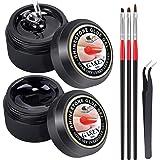 (8ml UV Rhinestones Glue+Rhinestones Picker Pen+UV Glue Brushes) - Nail Art 8ml Rhinestone UV Glue Gel Adhesive + Wax Tip Pic