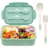 Bento Boxes for Adults - Bento Lunch Box For Kids Childrens With Spoon & Fork - Durable, Leak-Proof for On-the-Go Meal, BPA-F