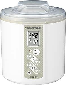 TANICA 温度調節(25~70℃) ・タイマー・ブザー付ヨーグルトメーカー ヨーグルティアS 1200ml YS-01 (ホワイト)