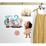 RoomMates RMK3680SCS Disney Moana and Friends Peel and Stick Wall Decals 8 Inch