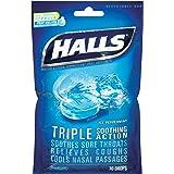 【2個】Halls Triple Soothing Action Ice Peppermint - 30ドロップ ホールズ アイスペパーミント