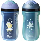 Tommee Tippee Insulated Sipper Tumbler, Blue and Green, 9oz, (Pack of 2)