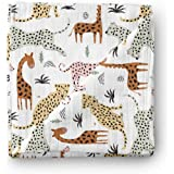 Aenne Baby Safari Animals Muslin Swaddle Blanket Gender Neutral Travel, Large 120 x 120 cm, 1 Pack, Baby shower Gifts, Luxuri