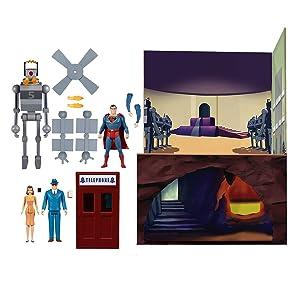 スーパーマン 1941 アニメーション ザ・メカニカル・モンスターズ 5ポイント 3.75インチ アクションフィギュア ボックスセット
