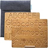 Kookaroo Sensory Letter Board: Wooden Alphabet Tracing Board, Montessori Tactile Learning Toy for Kids Ages 3 & Up, Double Si