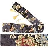 シルク刀袋 竹刀 模造刀 日本刀 木刀 剣袋 収納 バッグ ゴールデンタッセル紐 保管 保護