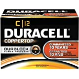 Coppertop Alkaline Batteries with Duralock Power Preserve Technology, C, 12/Pk, Sold As 1 Box