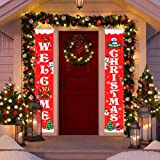 """HBlife Merry Christmas Banner Christmas Decoration Outdoor & Indoor Welcome Christmas Porch Sign 12"""" x 72"""", Christmas Banner"""