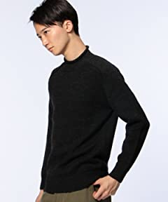 Middle Gauge Wool Roll Neck Sweater 1113-106-3534: Dark Grey