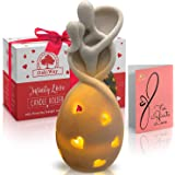 OakiWay Wedding Gifts For Couple - Infinity Love Candle Holder Statue w/ Flickering Led Candle, Anniversary, Engagement, Vale