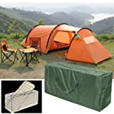 Apstour Garden Patio Cushion Cover Storage Bag, Furniture Storage Bag, Waterproof Outdoor Furniture Seat Protector Christmas