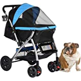 HPZ PET Rover Premium Heavy Duty Dog/Cat/Pet Stroller Travel Carriage with Convertible Compartment/Zipperless Entry/Reversibl