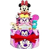 KanonBabys おむつケーキ [ 女の子向け / ディズニー : ミニー / 2段 ] パンパースS22枚 ダイパーケーキ ギフト 誕生日プレゼント 赤ちゃんの内祝い にも