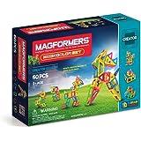 Magformers Creator Neon Color Set (60-pieces) Magnetic Building Blocks, Educational Magnetic Tiles Kit , Magnetic Constructio