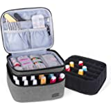 Luxja Nail Polish Carrying Case - Holds 20 Bottles (15ml - 0.5 fl.oz) or 30 Bottles (7ml - 0.27 fl.oz), Portable Organizer Ba