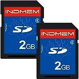 INDMEM SDカード 2GB Class4 SLC メモリカード カメラカード フラッシュメモリカード 2枚セット
