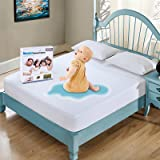 """Full Size Mattress Protector Waterproof Mattress Pad Cover Breathable Noiseless Deep Pocket Bed Cover for 6-18"""" Pad - Soft Wa"""