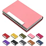 Padike Business Card Holder, Business Card Case Professional PU Leather & Stainless Steel Multi Card Case,Business Card Holde