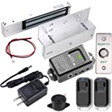 UHPPOTE 2.4GHz WiFi Inswinging Indoor 600lbs Electromagnetic Door Lock Kit Remote and Smartphone app Controlled