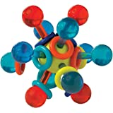 Manhattan Toy Transparent Atom Rattle & Teether Grasping Activity Baby Toy