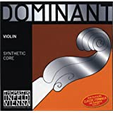 Thomastik Single string for Violin 4/4 Dominant - E-string steel core, Aluminium Wound, Strong, Loop End