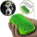 CATOM ペット シャワーブラシ 犬 猫 用 クリーナー ブラシ 入浴ブラシ ペットシャワー用ブラシ 泡が出る 柔らか…
