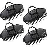 4pcs Shampoo Brushes, Segbeauty Hair Scalp Massager Shampoo Comb with Soft Pins Detangling Brush Anti-dandruff Thin Thick Wet