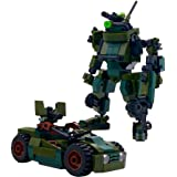 MyBuild Mecha Frame Armed Forces Mech Ajax and UTV Utility Vehicle Building Bricks Set 7002