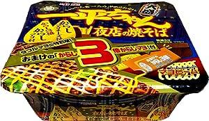 【販路限定品】明星 一平ちゃん夜店の焼そば おまけのからし3倍マヨ付き 特別版 185g×12個
