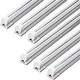 Barrina LED Shop Light, 40W 5000LM 5000K, 4FT Integrated Fixture, V Shape,T8 Light Tube, Daylight White, Clear Cover, Hight O