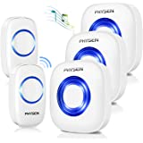 Physen Model CW Waterproof Wireless Doorbell kit with 2 Buttons and 3 Plugin Receivers1000 Feet Long Range4 Volume Levels and
