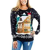 Tipsy Elves Women's Light Show Light Up Sweater - Stuck Santa Christmas Sweater