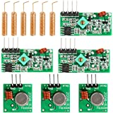 WayinTop 3 Set 433MHz RF Wireless Transmitter and Receiver Module + RF 433MHz Copper Spring Antenna Kit, High Frequency Super