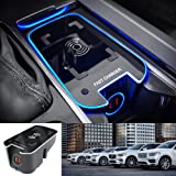Premis Wireless Car Charger Fit for Volvo XC90 XC60 S90 V90 V60 S60 2019 2020 2021 QC3.0 Fast Charging with USB Port 36W QI W