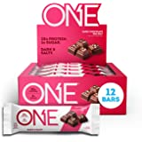 ONE Protein Bars, Dark Chocolate Sea Salt, Gluten Free Protein Bars with 20g Protein and only 1g Sugar, Guilt-Free Snacking f
