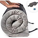 Zermätte Memory Foam Roll Up Mattress Floor Bed - Camping Mattress/Travel Bed/Portable Guest Sleeping Mat/Cot Pad-with Waterp