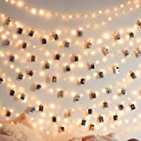 JMTGNSEP LED String Light 50 LEDs 50 Photo Clips for Halloween Christmas New Year Indoor Outdoor Decoration Bedroom Garden Li
